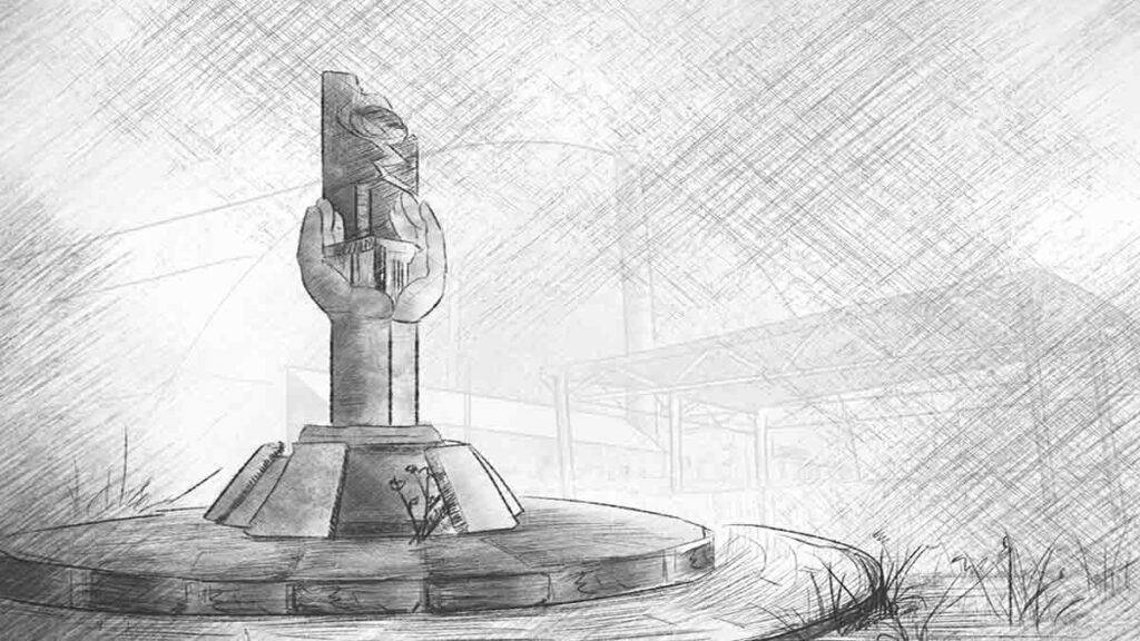 "The ""Elephant Leg"" is Chernobyl radioactive lava"